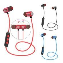 QAIXAG nuovo senza fili di Bluetooth di sport auricolare magnetica Bluetooth auricolare in ear con il Bluetooth del telefono mobile per dellorecchio del metallo shell