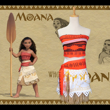 Moana  Cosplay Maui Childrens Dress Princess Costumes