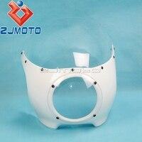 ZJMOTO 5 3/4 Headlight Fairing Motorcycle Front Head Light Fairing Universal For Harley Custom Chopper Cafe Racer