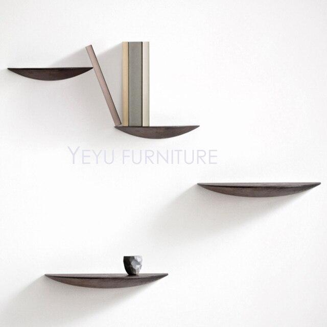 Wandregal modernes design  Modernes Design Wand Montiert Massivem Holz Regal Bücherregal ...