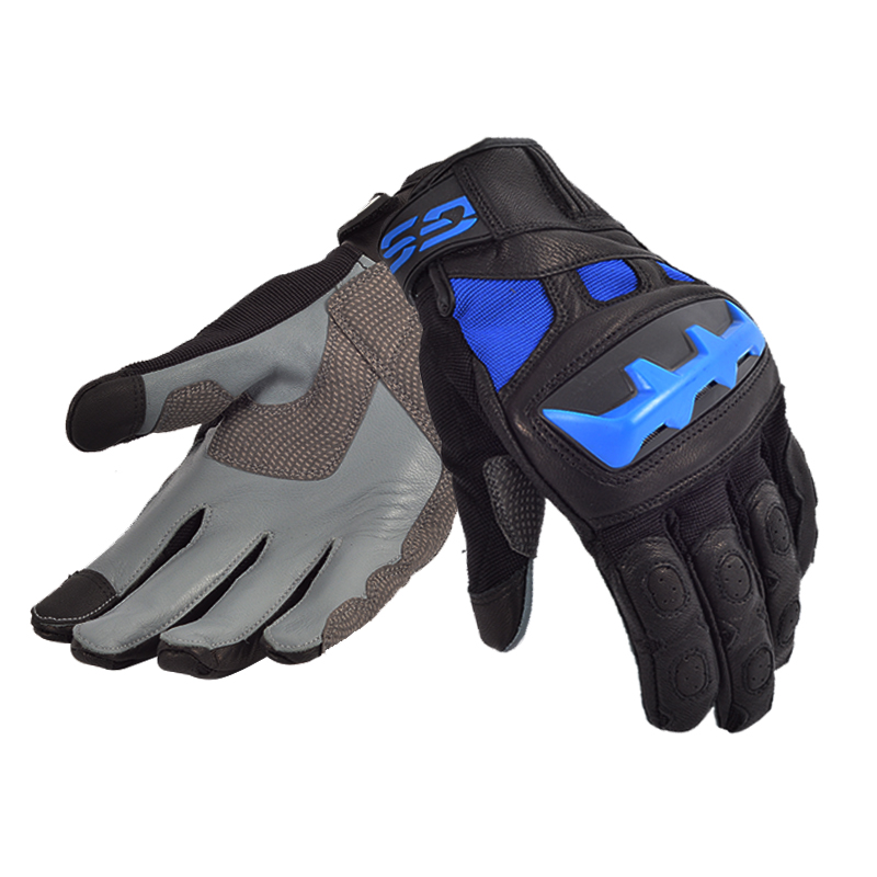 2018 Street Motorcycle Motorcross GS Gloves for BMW Motorrad Black/Red Blue Leather Racing Gloves цена 2017