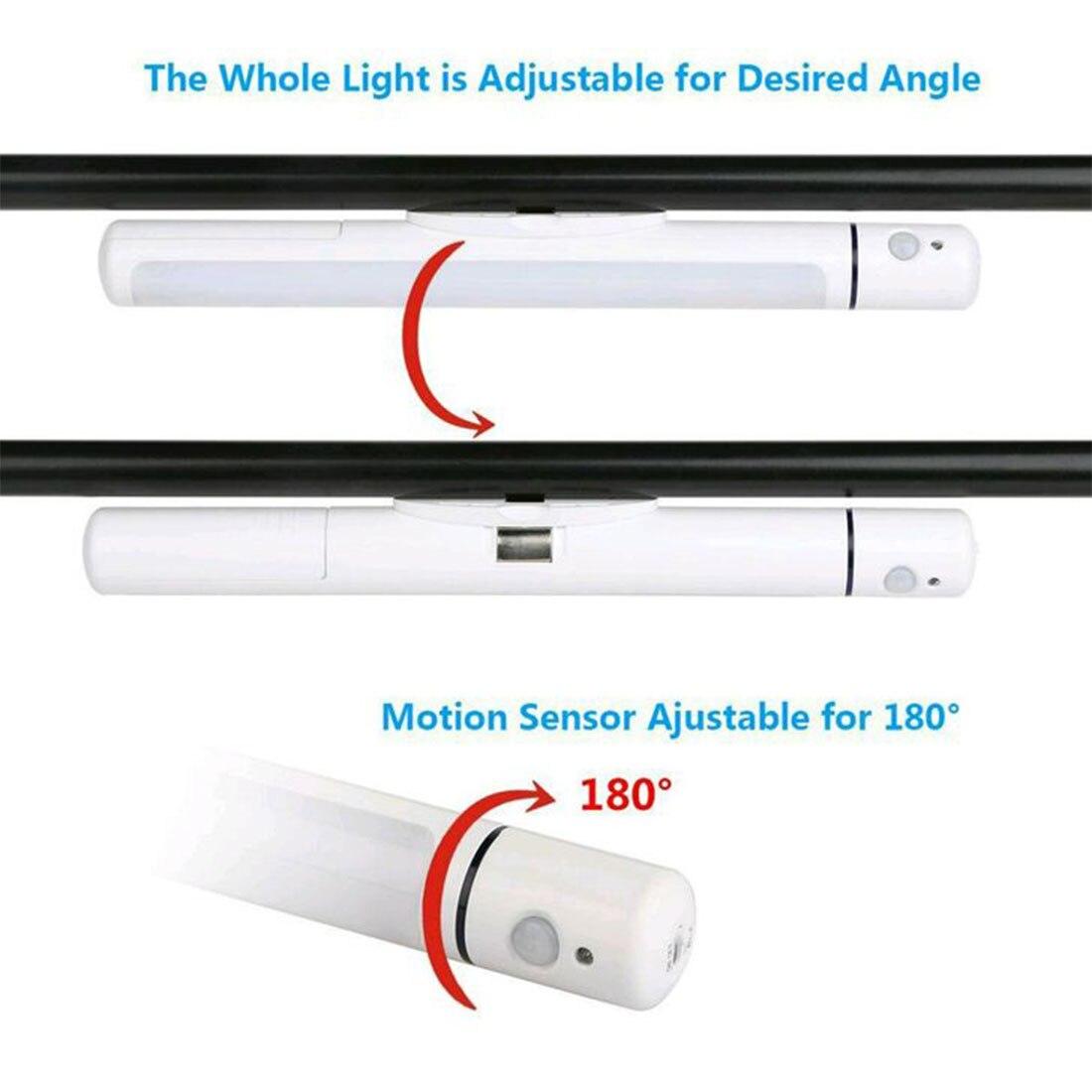 Motion Sensor Wireless Battery Operated Camping LED Kitchen Cabinet Garage Stairs Emergency Closet Lamp Flashlight Wall Night
