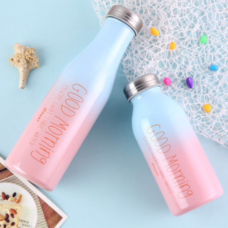 350ml 500ml Gradient Color Thermos Bottle Stainless Steel Vacuum Flasks Insulated Thermo Cup Portable Tea Thermos for Kids Gift in Vacuum Flasks Thermoses from Home Garden