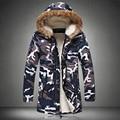 M-5XL!!! elegante Temperamento de Moda de Invierno Chaquetas Hombres hombres de la Chaqueta de Camuflaje Al Aire Libre Más Tamaño Warmbig Parka hombres abrigo de invierno