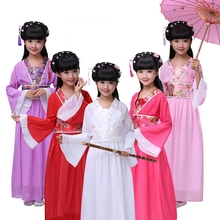 Childrens costume princess dress Guzheng performance service photo costumes Tang Hanfu noble girl