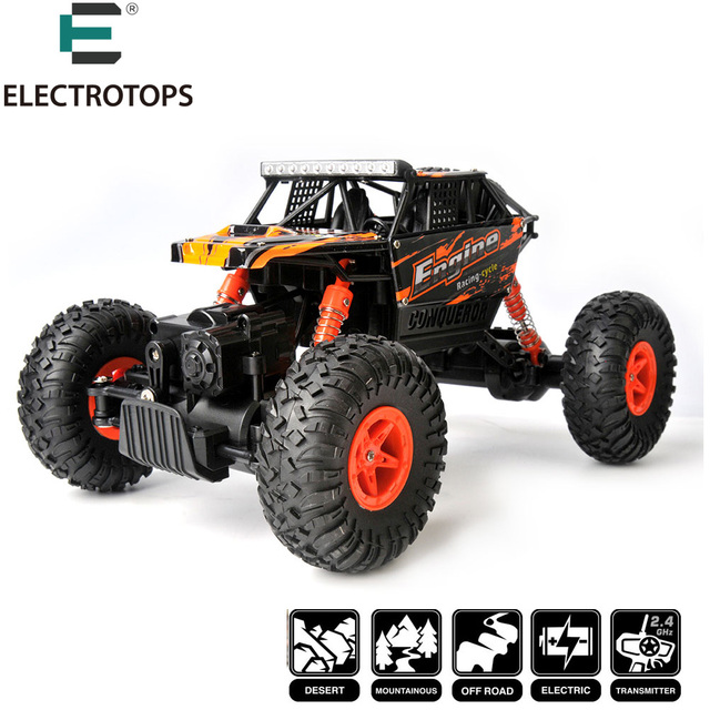 RC Hobby Toy Car WLtoys 18428-B Electric Drive Climbing 4WD 1/18 2.4G Monster Truck RC Vehicles toys xmas gifts for child
