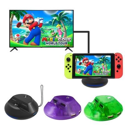 Dock adaptateur de Type C vers HDMI pour Nintendo Switch, support de charge de commutateur Portable avec Port USB 3.0 supplémentaire, Dock TV pour interrupteur vert