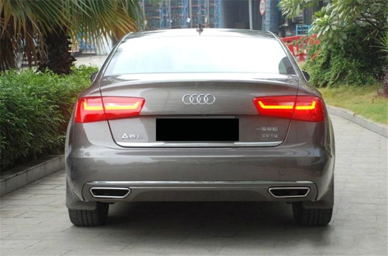 Car Rear Lip Spoiler For Audi A6 C7 2012.2013.2014.2015.2016.2017 High Quality Bumper Diffuser Auto Accessories