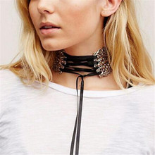 New Design Vintage Silver Hollow Flowers Collar Necklace Fashion Statement Choker Necklace For Women Charm Jewelry