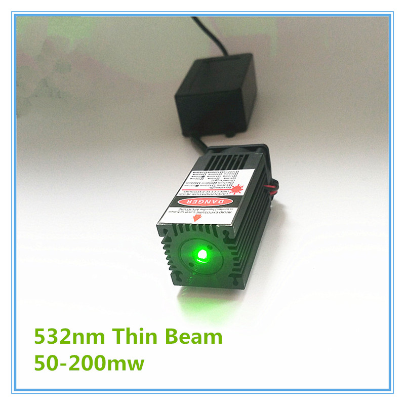 Thin Beam 50mw 100mw 150mw 200mw 532nm Green Laser Module  Room Escape/ Maze Props/ Bar Dance Lamp