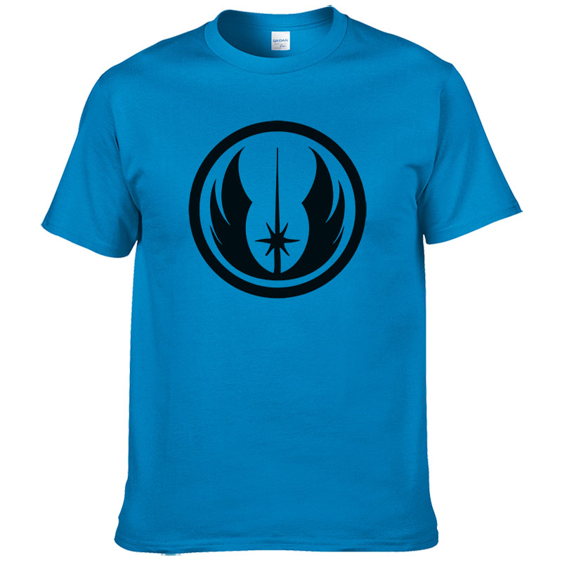 Mens Fashion 2017 Summer Fashion Brand Star Wars Jedi Order   T     shirt   100% Cotton Men   T  -  shirt   Cotton Print Tees #266
