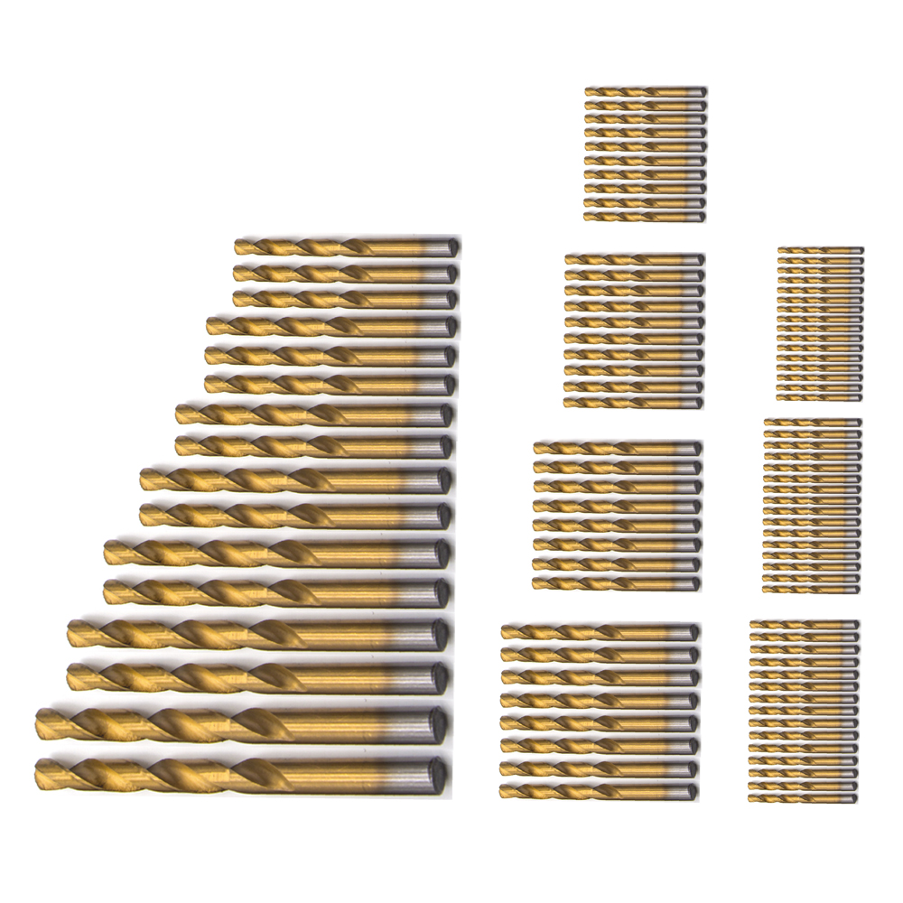 BDCAT 99tk titaan-HSS-i puurvardad, kaetud 1,5–10 mm, roostevabast - Puur - Foto 3