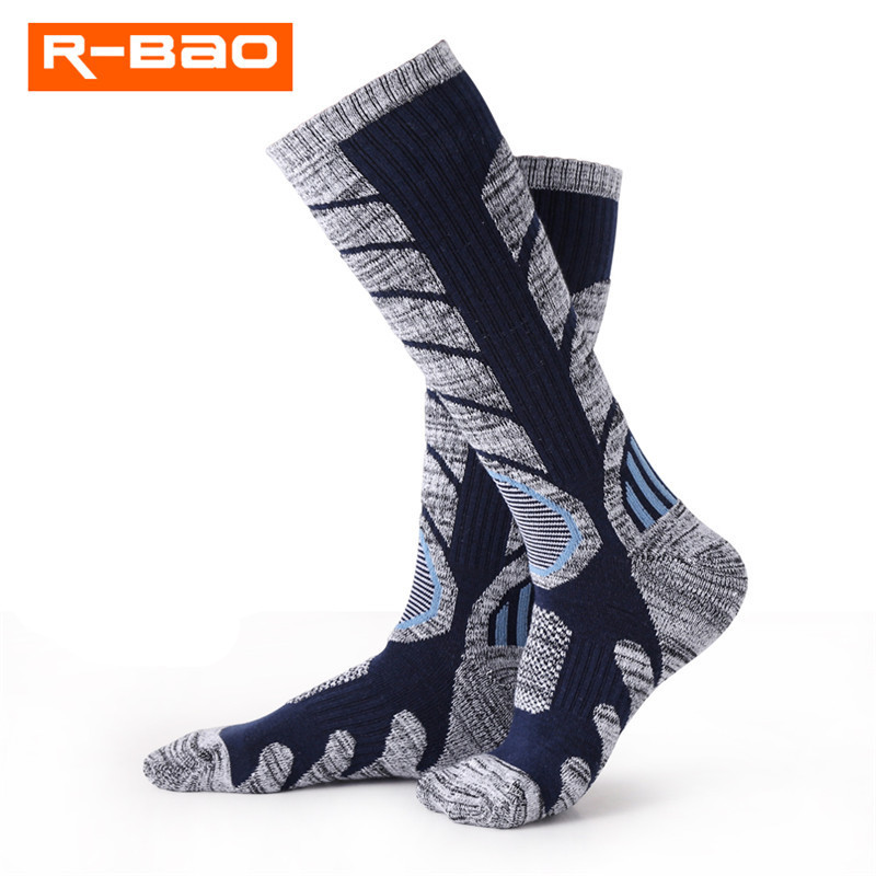 2018 R-BAO Winter Thermal Ski Socks Cotton Sport Snowboard Cycling Socks Thermosocks Leg Warmers For Men Women RB3301 M L