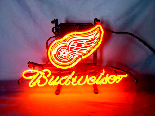 Business NEON SIGN board For DETROIT RED WINGS Hockey Football  Basketball  GLASS Tube BEER BAR PUB Club Shop Light Signs 17*14 powerball neon red pro кистевой тренажер со счетчиком