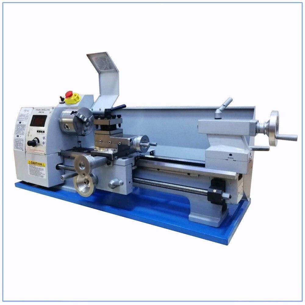 Image 4 - Mini Metal Lathe Bench Variable Speed 8 X 16 750W Top Digital for Wood workingLathe   -