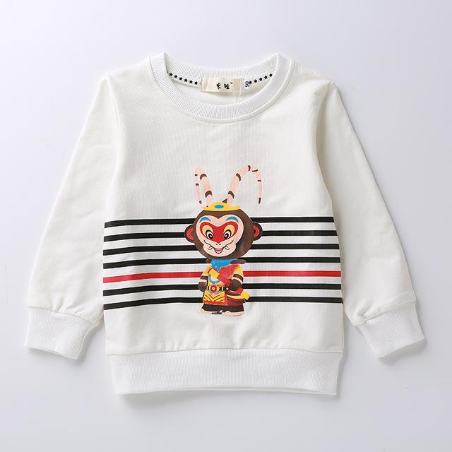 Roupa do bebê 2-5 Anos das crianças das crianças do bebê das meninas dos meninos camisetas primavera outono novos dos desenhos animados das crianças das crianças de manga longa camisetas