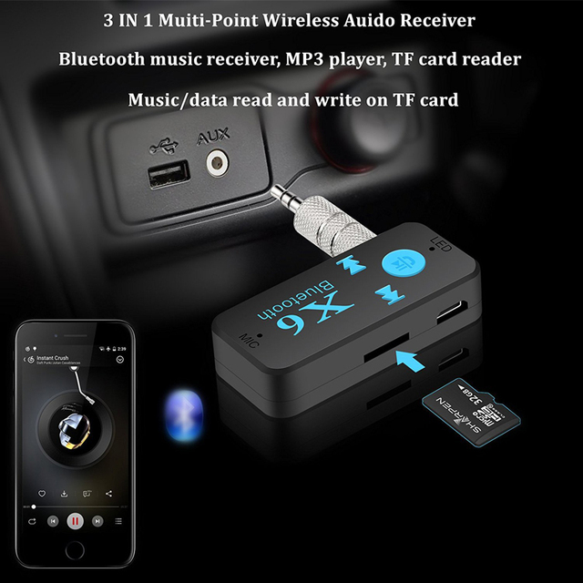 3 in 1 USB Wireless Car Bluetooth Music Receiver for Volvo XC60 XC90 Toyota Renault Opel astra Nissan qashqai Peugeot 307 308