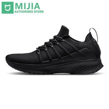 Stock Xiaomi Sneaker 2 Mijia Running Shoes Sport Uni-moulding Shock-absorbing Fishbone Lock System Elastic Knitting Vamp for Men(China)