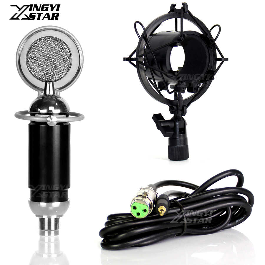 Professional 3.5mm Jack Wired Condenser Microphone Windscreen For Recording Studio Mic Shock Mount