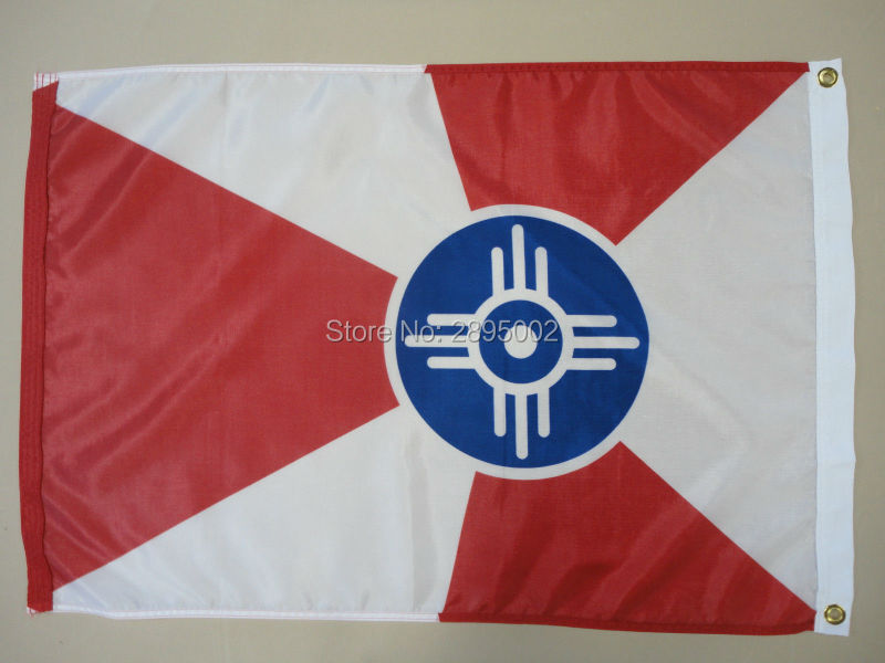 Wichita Kansas KS City Indoor Outdoor Printed Nylon Flag 1