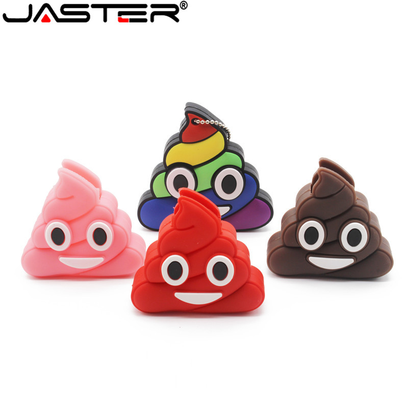 JASTER Mischievous Memoria Cute USB Flash Drive Cartoon Mini Memory Stick Pen Drive 4GB 16GB 32GB Pendrives USB 2.0 Bulk Gifts