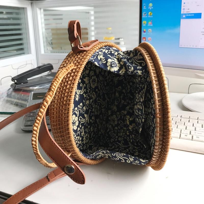 2017 hög kvalitet handgjord rotting runda former axelväskor mode - Handväskor - Foto 2