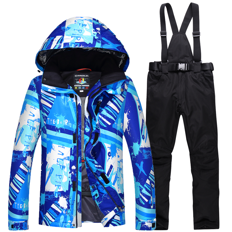 Men's Ski Suit Windproof Waterproof Thermal Snowboard Snow Male Skiing Jacket And Pants sets men Skiwear Skating Cloth top quality womens skiing suit sets windproof waterproof thermal snowboard jackets and pants girl winter cotton snow dress