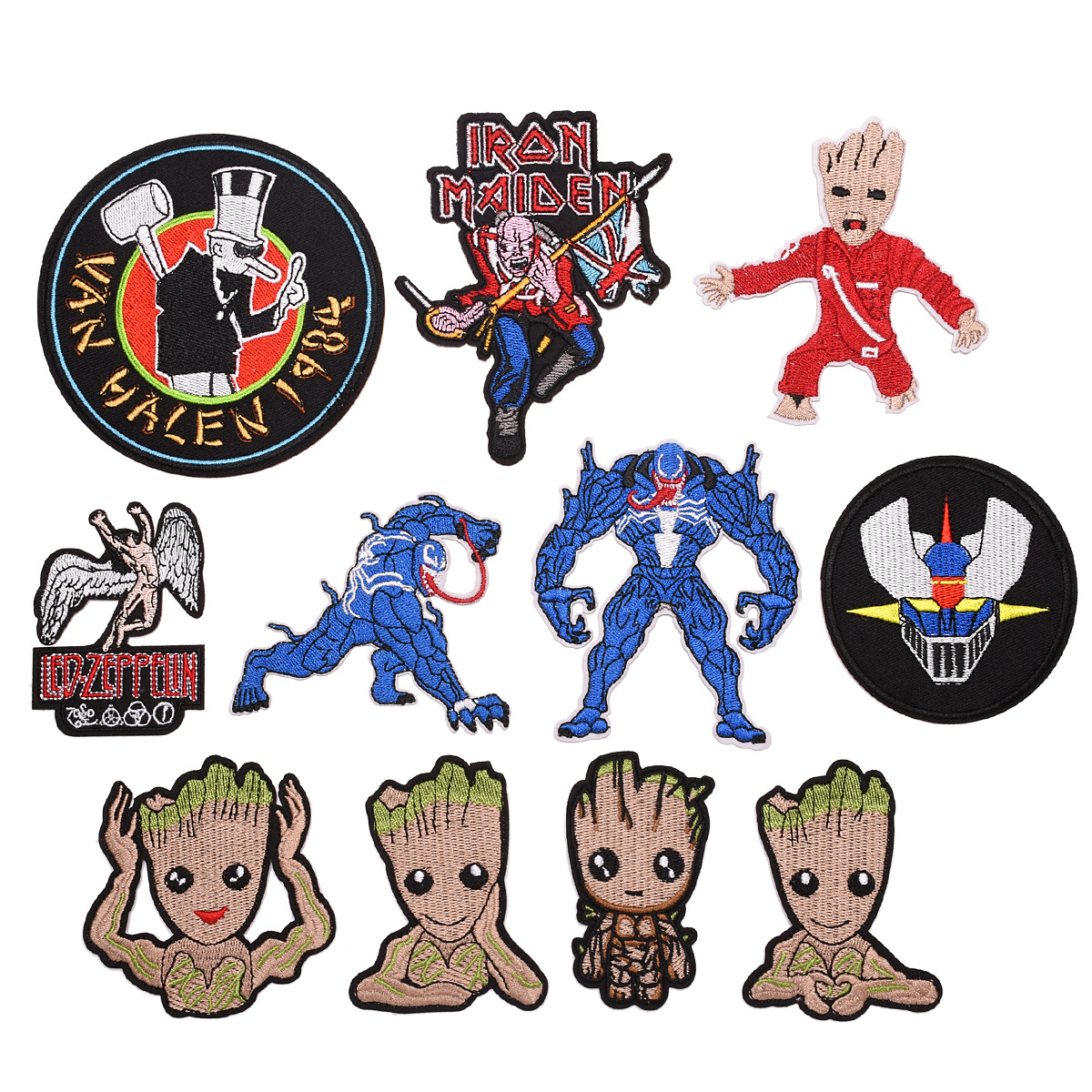 Various Avengers venom cute tree man Patch Embroidered Applique Sewing Patch Clothes Stickers Garment Apparel Accessories in Patches from Home Garden