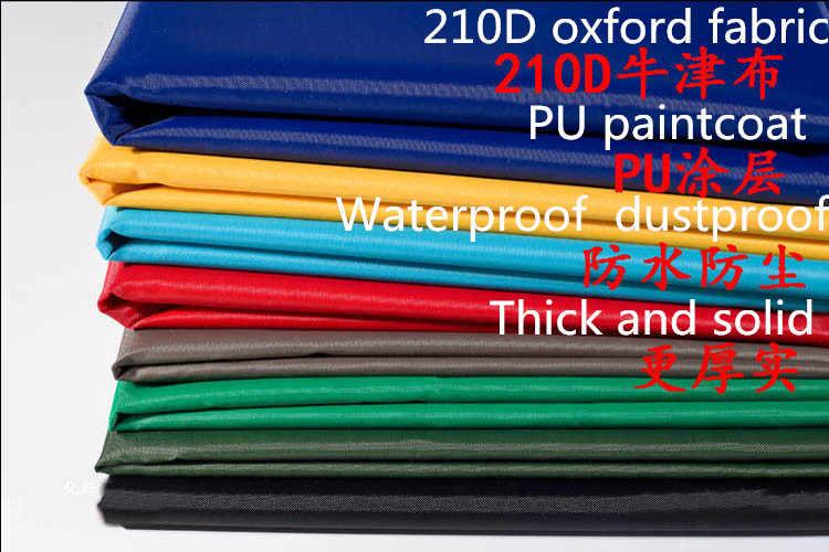 147cm 210D Coted כסף PVC אוקספורד בד עמיד למים שמש בלוק אולטרה סגול הוכחה צל בד DIY חופה כיסוי בד 120 g/Meter