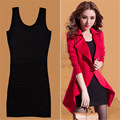 Women 2 Pieces Trench Coat Sets Solid Slim Women Tops Overcoat and Casual Elegant Dress Ladies Suits 3 Colors