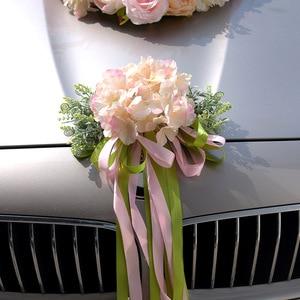 Image 4 - Kyunovia Hochzeit Auto Zubehör Auto Dach Schwanz Simulation Dekoration Hochzeit Auto Dekoration Blume KY131