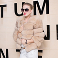 Natural Real Fox Fur Women Coat Long Sleeve Fur Outerwear Coat 2016 Winter Fashion Casual Genuine Female Fur Short Coat Jacket