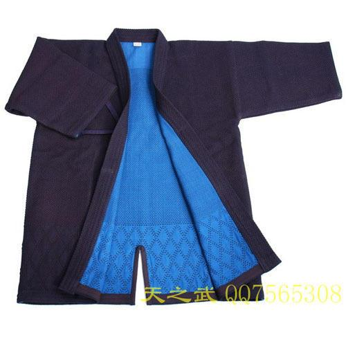 Top Quality 100% Cotton With HiDriTex Natural Navy Blue Double Layer Kendo Aikido Iaido Gi Martial Arts Uniforms Comfortable