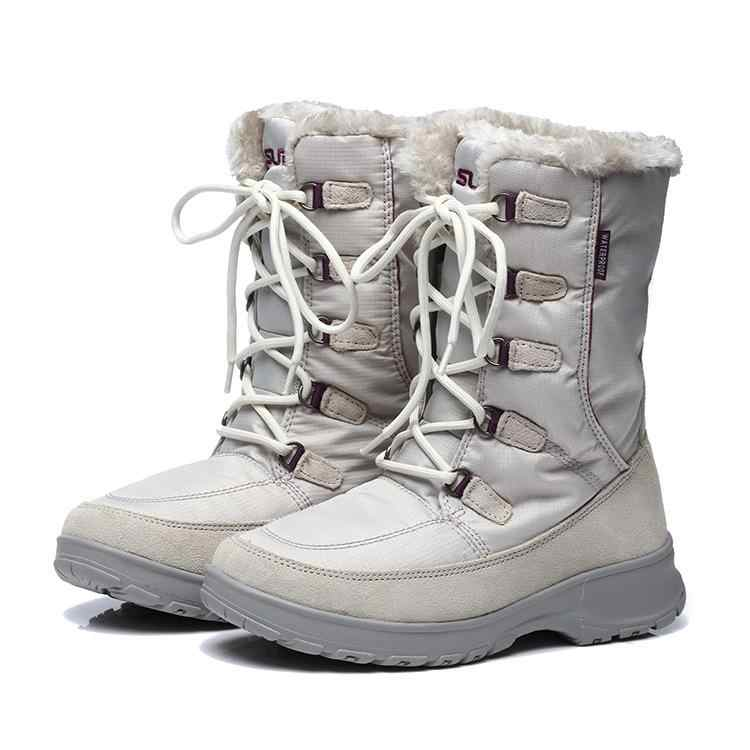 c0fd2ee52ac98 Women Waterproof Snow Boots Insulated Winter Warm Boot Mountaineering  Hiking Ski Sports Outdoor Shoes Anti Skid