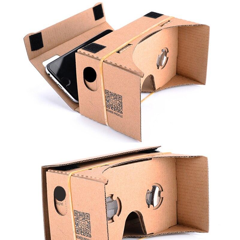 Google Cartón Gafas 3D de realidad virtual Caja VR Kit de - Audio y video portátil - foto 3