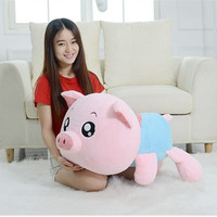 80cm Big Size High Quality Miss Pig Plush Toy Cute Pig Soft Finish Stuffed Toy Gift For Girls Birthday Gift Factory Supply