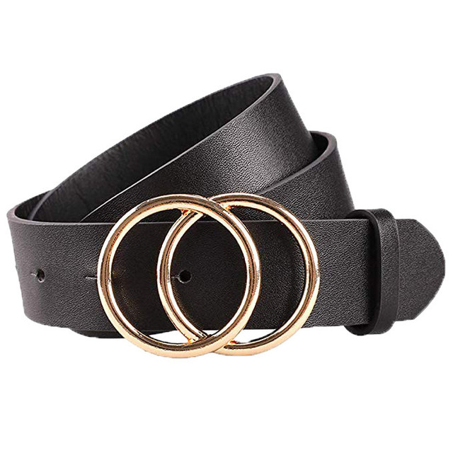 Belts Metal Circle Buckle...