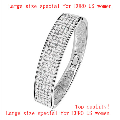 AAAA + Tsjechische strass Brede cirkel Armband charmes vrouwen meisje accessoires mode-sieraden Gratis drop Shipping kwaliteit groothandel