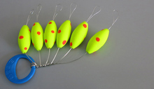 30pcs/lot High Quality Fluorescence Seven-star Fishing Float Space Beans Easy Use Floater Olive Mini B210