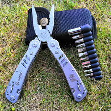 Ganzo high quality multi functional stainless steel folding plier G301 EDC combination plier multi tool with tool bag bits цены