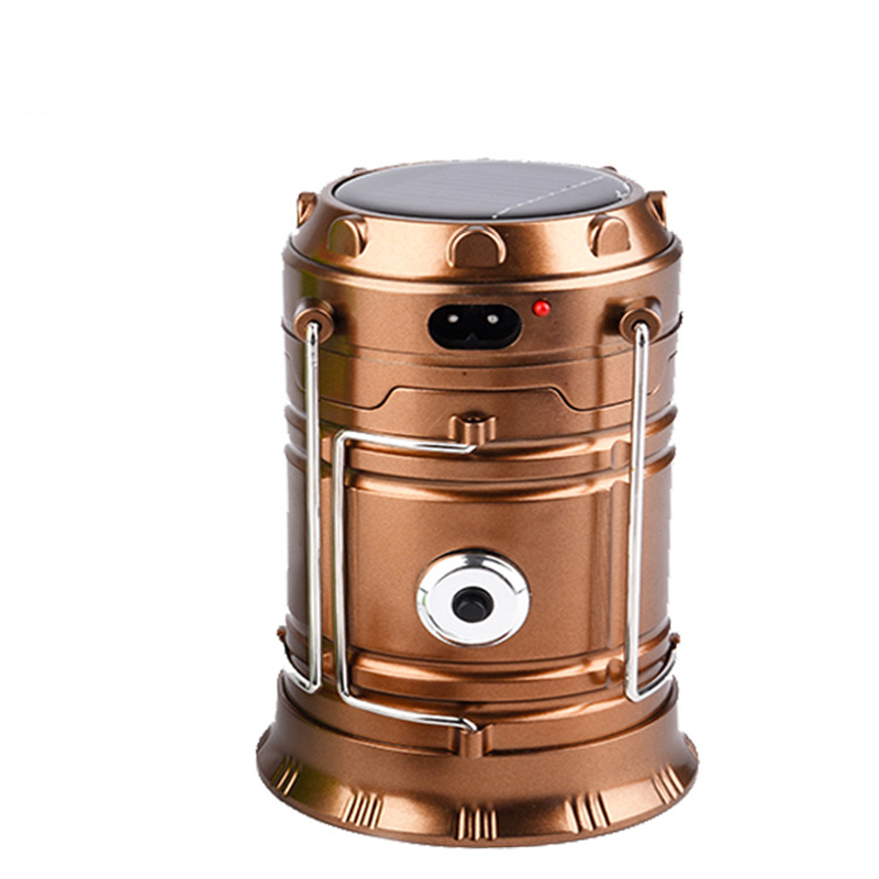 Solar Energy & USB Charging Outdoor Activities Lighting Lantern LED Handle Flashlight Hiking Camping Handed Searchlight