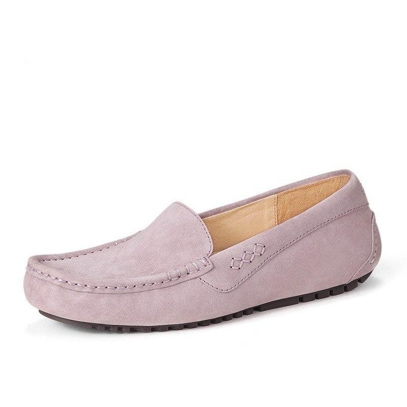 Conduite 2018 Gris Plat Chaussures Véritable Femmes De Glissement En Casual Femal maroon Cuir Pour Sur Appartements Mocassins lavender Confortable qAqgBa
