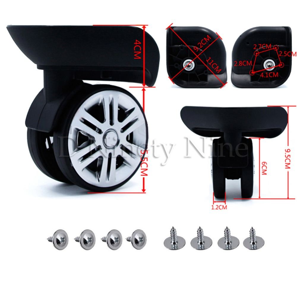 2Pcs A65 Mute Wheel Trolley Luggage Wheels Accessories Caster For Batch Replacement Luggage Parts Wheels Suitcase Repair2Pcs A65 Mute Wheel Trolley Luggage Wheels Accessories Caster For Batch Replacement Luggage Parts Wheels Suitcase Repair