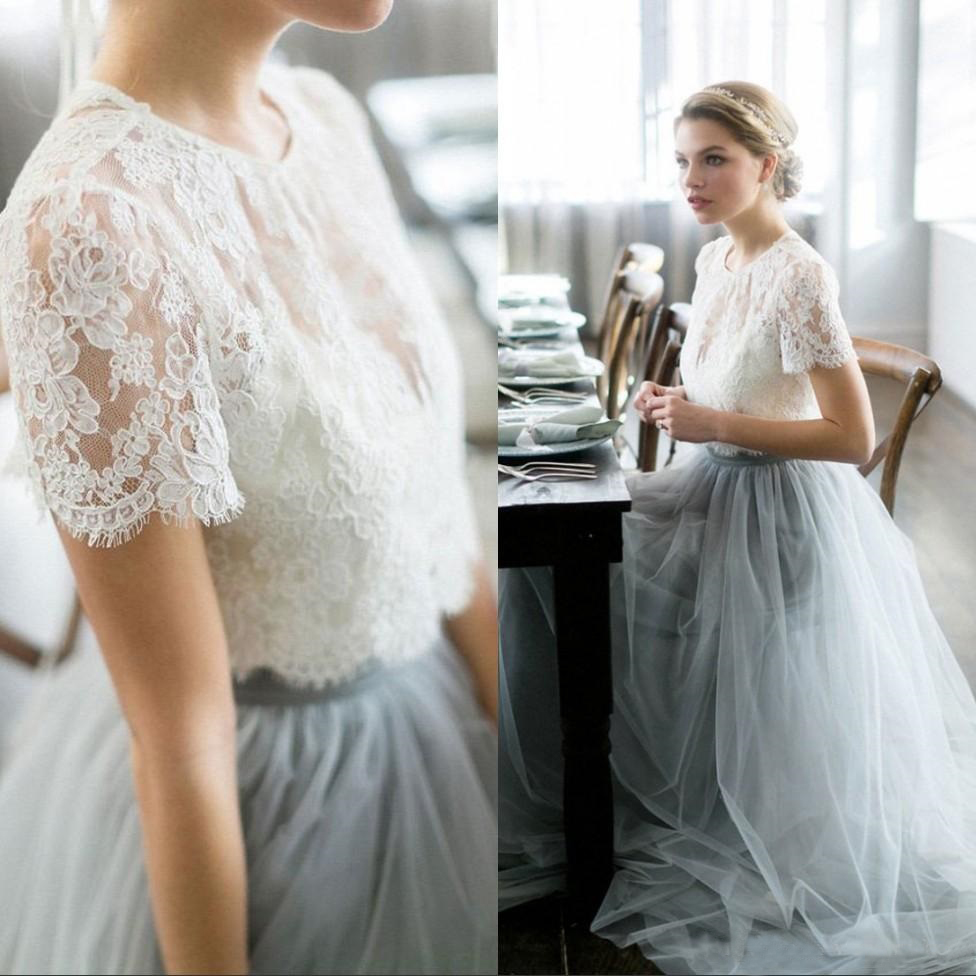 Vintage Wedding Dress 2 Piece: Vintage 2017 Two Piece Country Wedding Dresses Beach