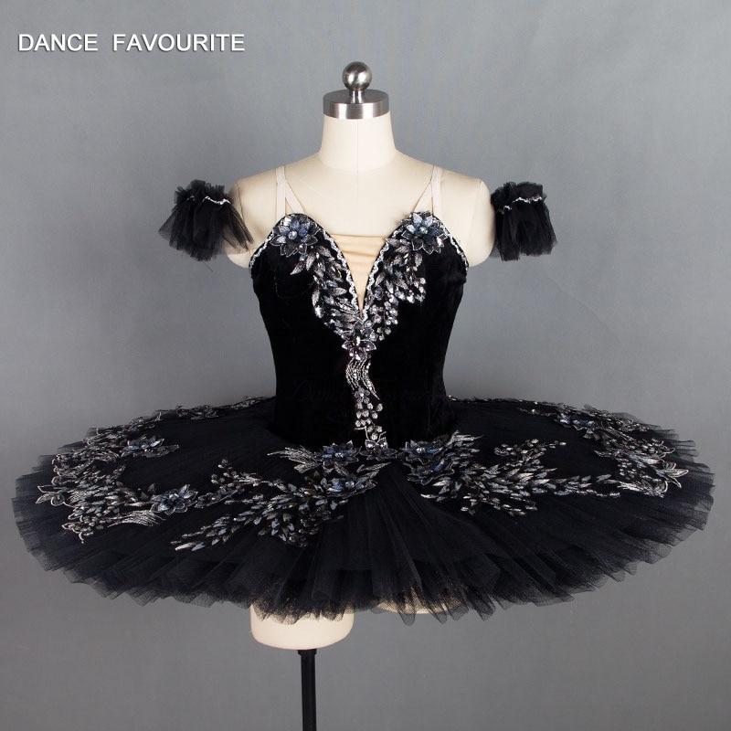 B18034 Black Swan Odile Professional Ballet Tutu Girl & Women Stage Performance Dance Costume Ballet Tutu