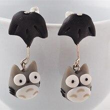 Totoro Polymer Clay Ear rings