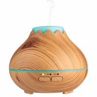10W 150ML Wood Grain Aroma Diffuser With LED Lights Mini Aromatherapy Essential Oil Diffuser Ultrasonic Cool