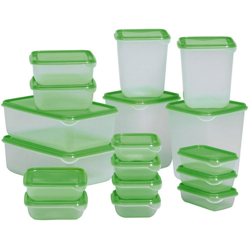 Goldbaking 17 Pieces Multifunction Plastic Lunch Box Set Green Kitchen Food Storage Sets Oven Safe Food ContainersGoldbaking 17 Pieces Multifunction Plastic Lunch Box Set Green Kitchen Food Storage Sets Oven Safe Food Containers