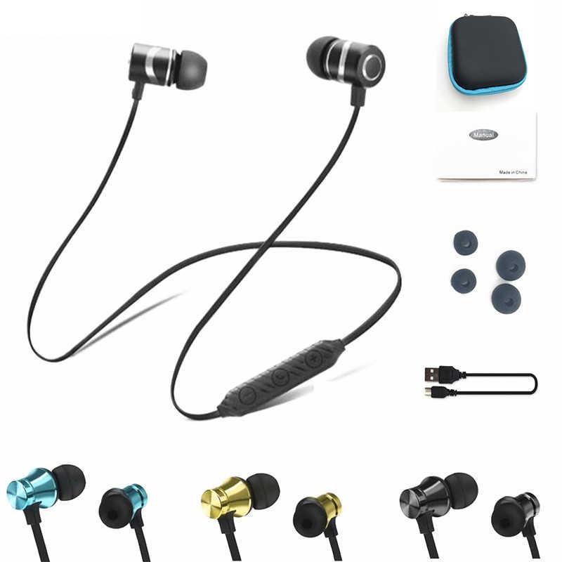 Sportowe słuchawki bluetooth muzyka stereo słuchawki bezprzewodowe słuchawka do telefonu magnetyczny zestaw słuchawkowy słuchawki z mikrofonem