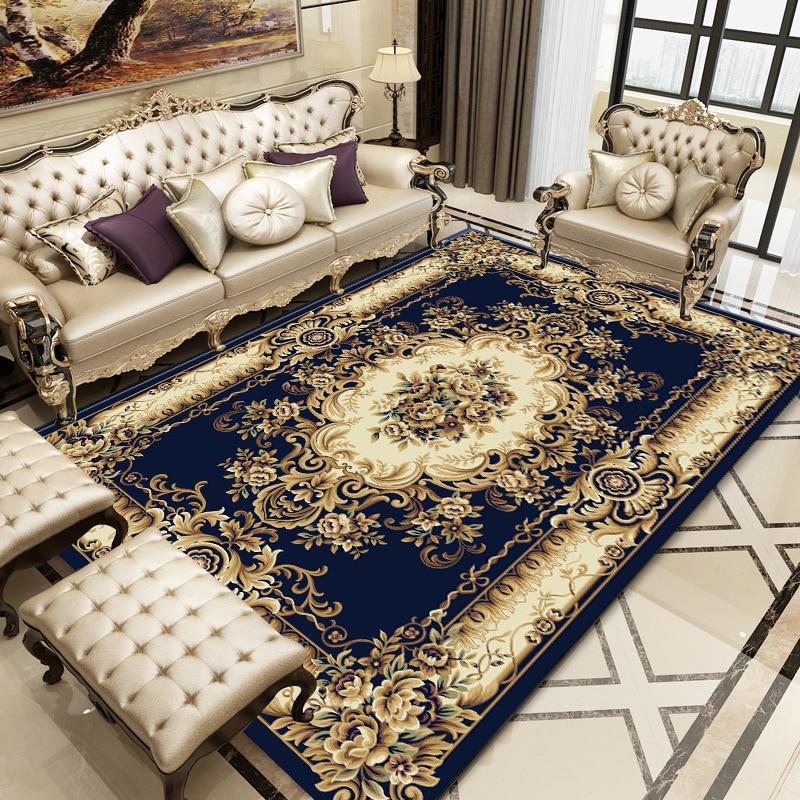 European Court Style Printed Carpet Mats Big Size High Quality Home Mat Modern Living Room Carpet Thicken Parlor Rugs Art Decor